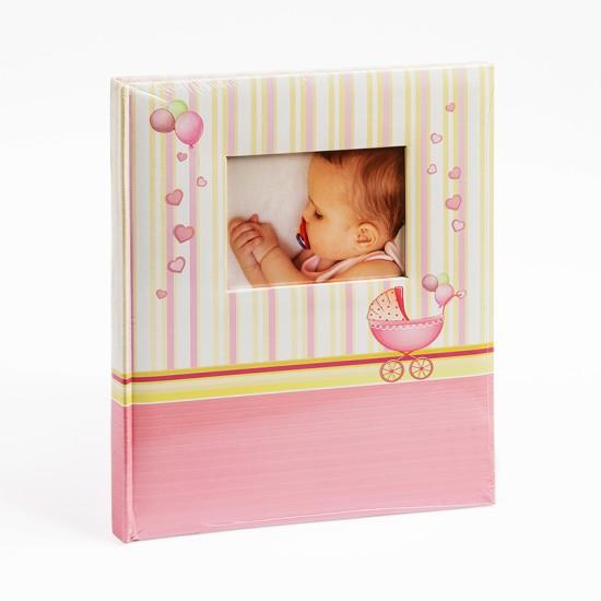 Albums Gedeon ar rozā klasiskām lapām 24x29 cm